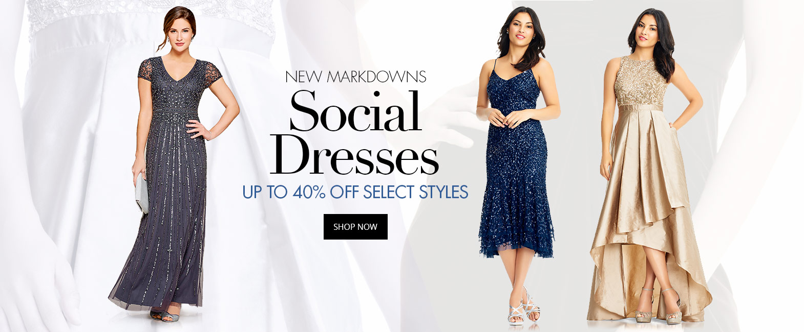 Up to 40% off select social dresses