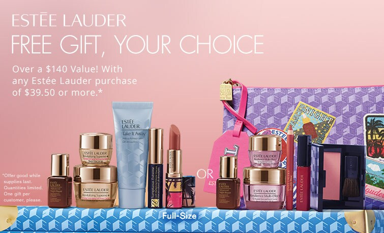 Shop Estee Lauder and receive a free gift with any Estee Lauder purchase of $39.50 or more*