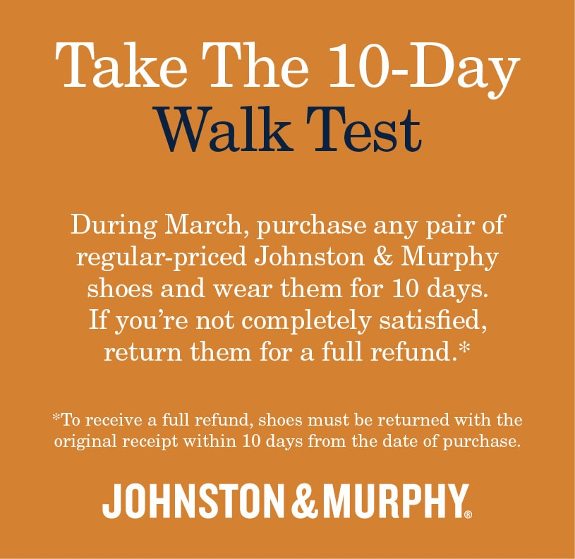 Johnston & Murphy Walk Test