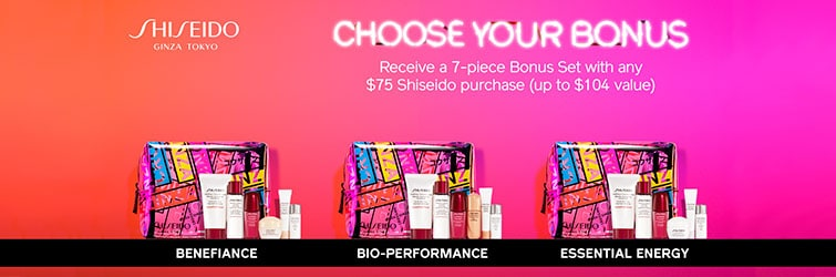 Shiseido GWP - Free gift with any $75 Shiseido purchase