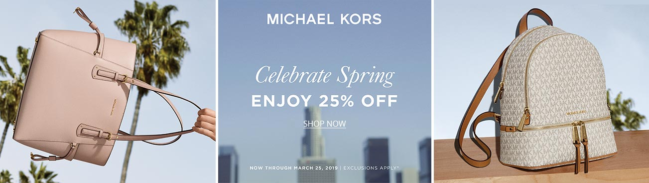 Creative shot of Michael Kors sale handbags