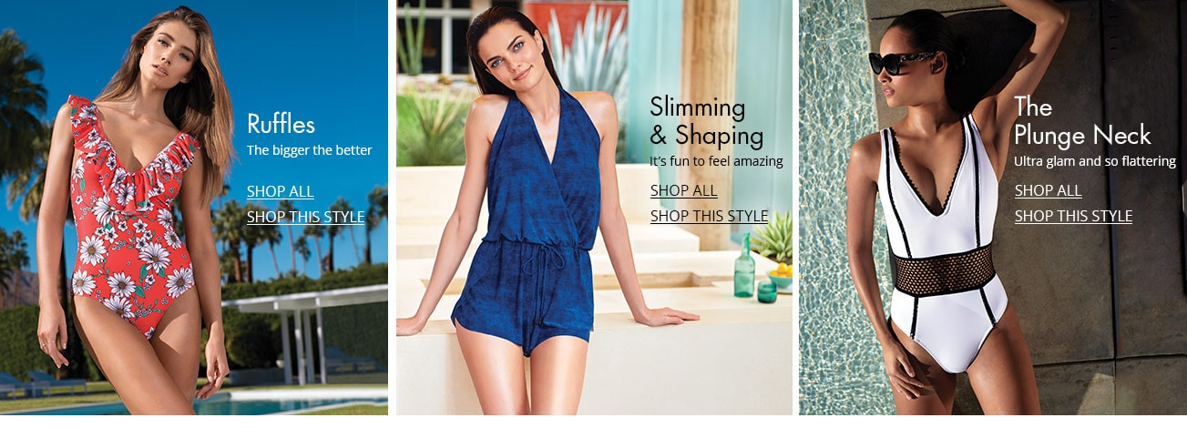 67ee18ea7009b Women s Swimsuits   Cover-Ups. Shop women s swimwear styles on Dillards.com
