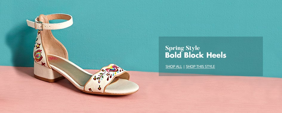 Shop Kids' Block Heel Shoes