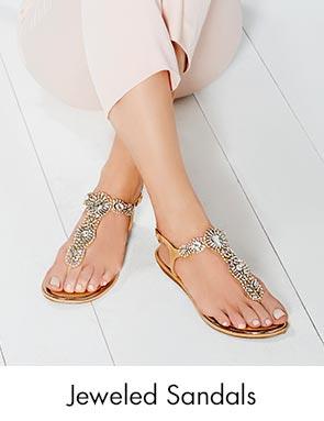 Shop Jeweled Sandals