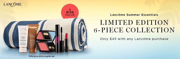 Shop Lancome and receive a free gift with any $45 Lancome purchase
