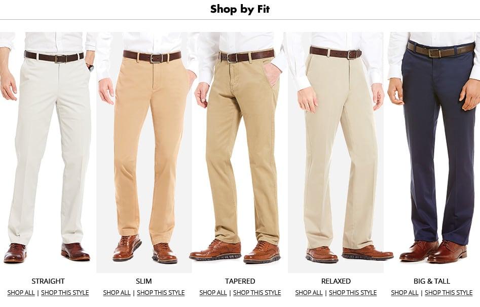 Men's Pants | Shop by Fit on Dillards.com