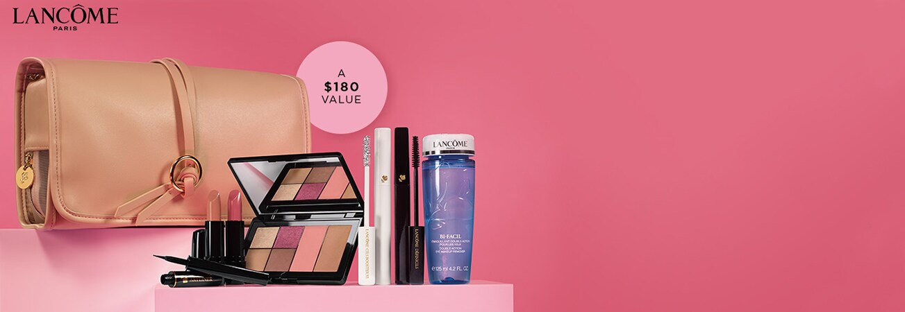 Shop Lancome - 6 full size best sellers only $47 with any lancome purchase