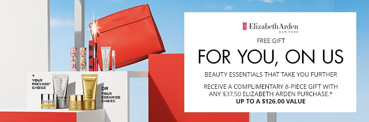 Shop Elizabeth Arden - receive an 8 piece gift with any $37.50 Elizabeth Arden purchase