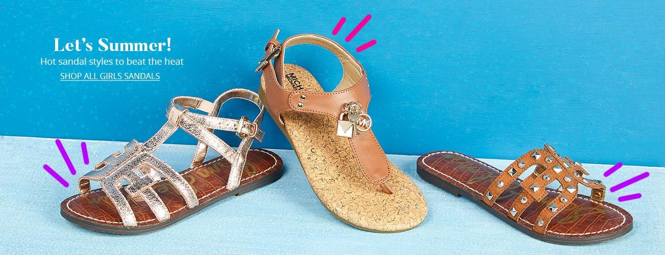 wholesale dealer 2d547 a563f Shop All Girls Sandals