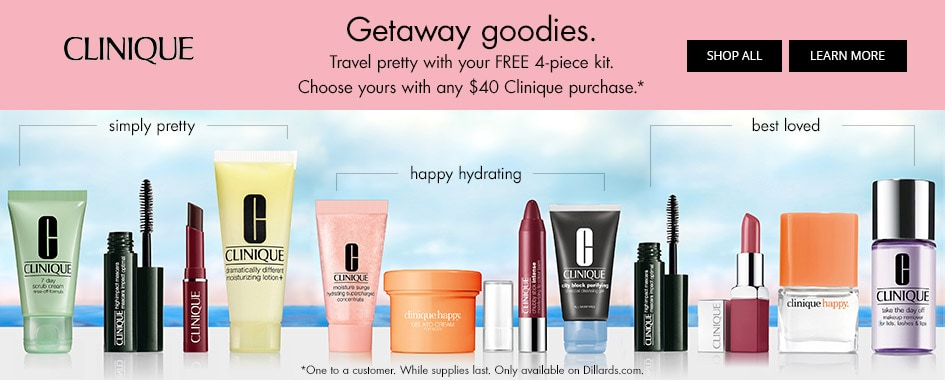 Clinique Getaway goodies Gift with Purchase Promotion Creative Image