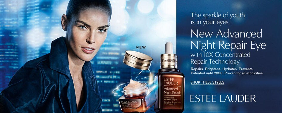 Estée Lauder Advanced Night Repair Model on City Background Creative Image