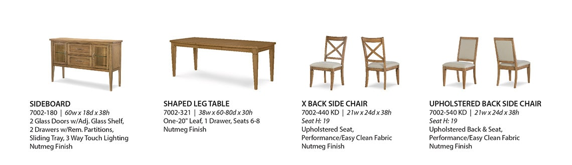 Legacy Furniture Product Information