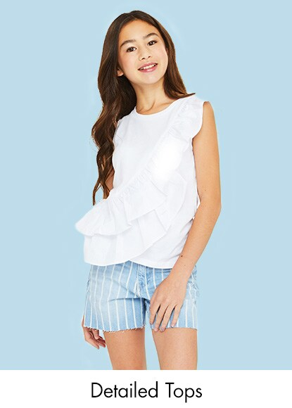 57adf6768304 Girl's detailed tops