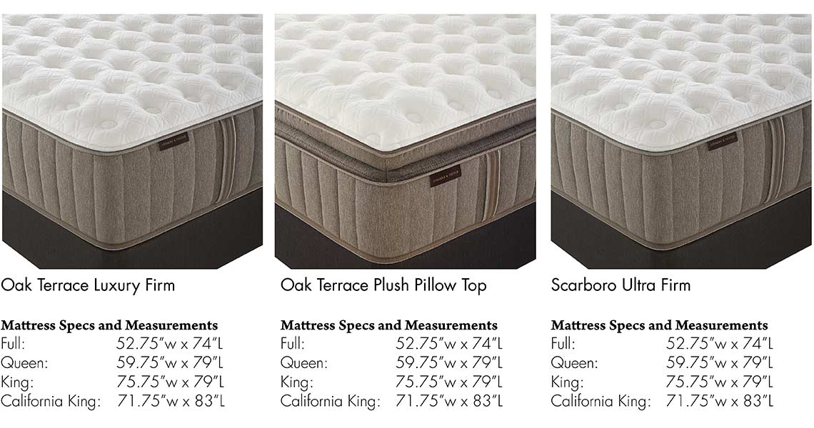 stearns u0026 foster mattress information oak terrace luxury firm oak terrace plus pillow top