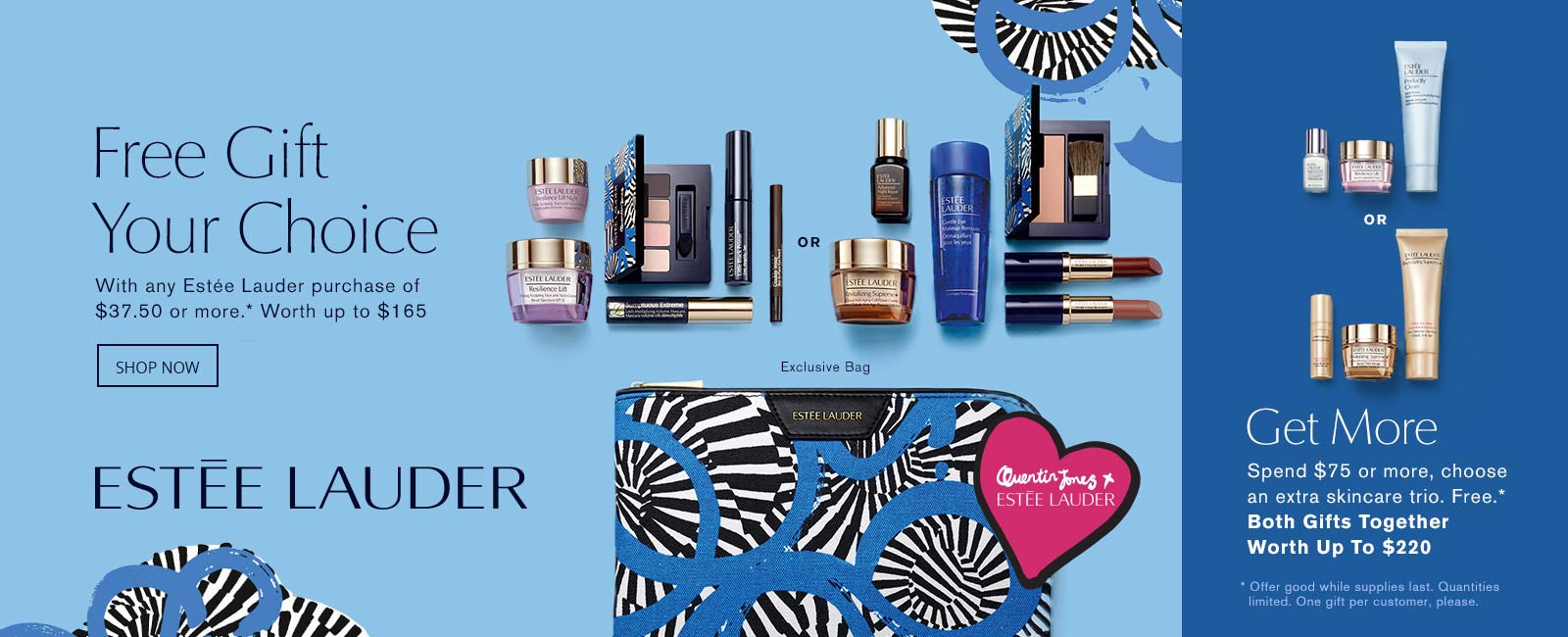 Estee Lauder gift with purchase promotional creative
