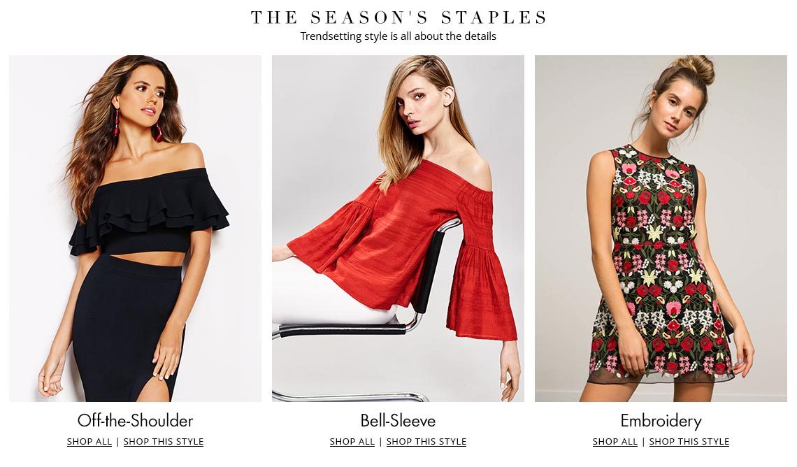 Shop Off-the-Shoulder, Bell-Sleeve, and Embroidered Trends on Dillards.com