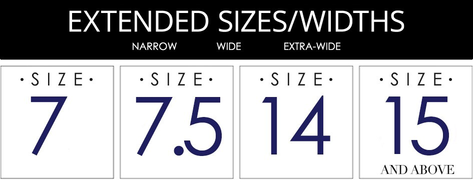Shop Men's Extended Shoe Sizes