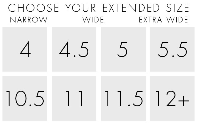 Shop Women's Extended Shoe Sizes