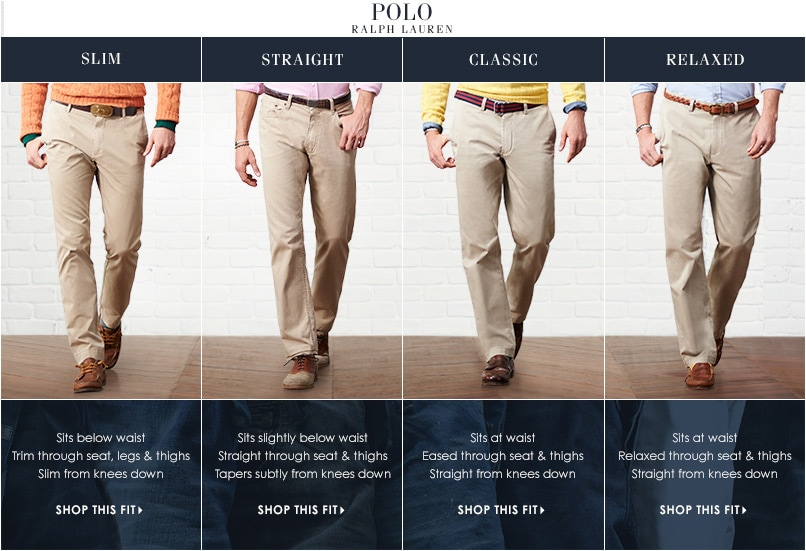 POLO Ralph Lauren Pants Fit Guide