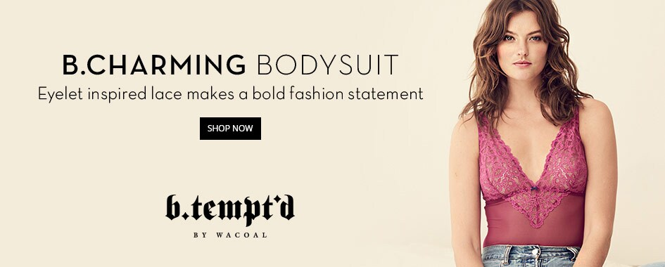b.tempt'd by Wacoal b.charming bodysuit creative image