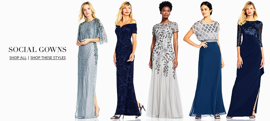 Best wedding shopping websites adrianna papell evening for Wedding guest dresses miami