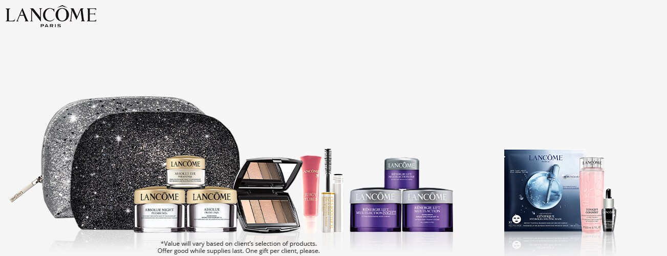 Shop Lancome & choose your free gift with any $37.50 Lancome purchase