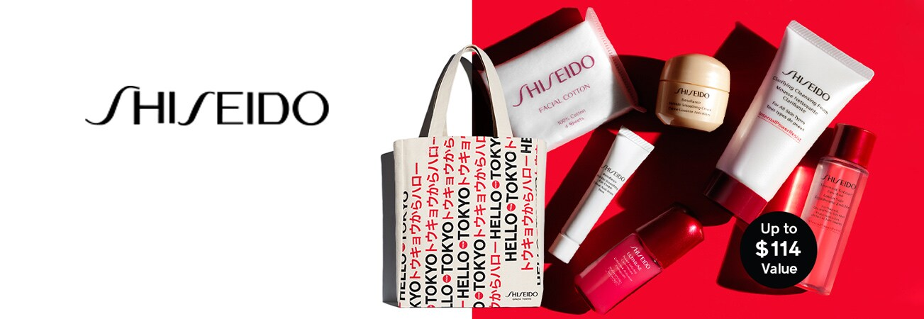 Choose your Shiseido gift with purchase, with a Shiseido purchase of $75