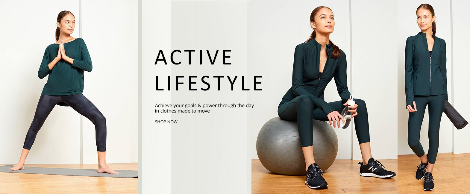 Shop all Activewear - Achieve your goals and power throught the day in clothes made to move - Shop Now