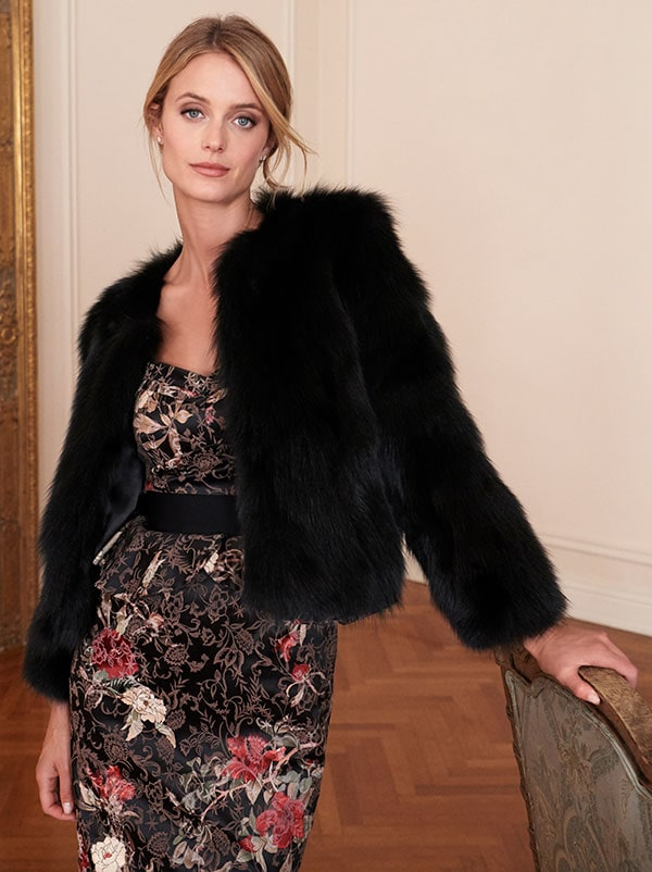 Luxury Collection Fara Genuine Fox Fur Jacket