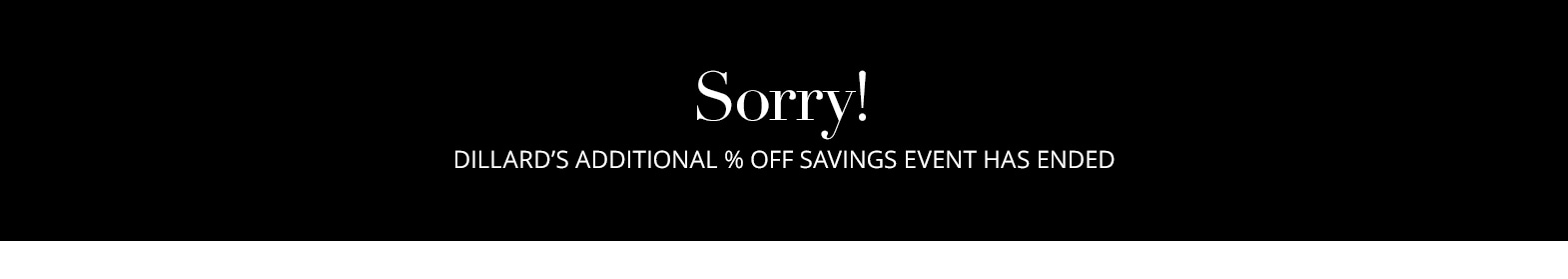 Additional Sales Days For CardHolders | Dillard's