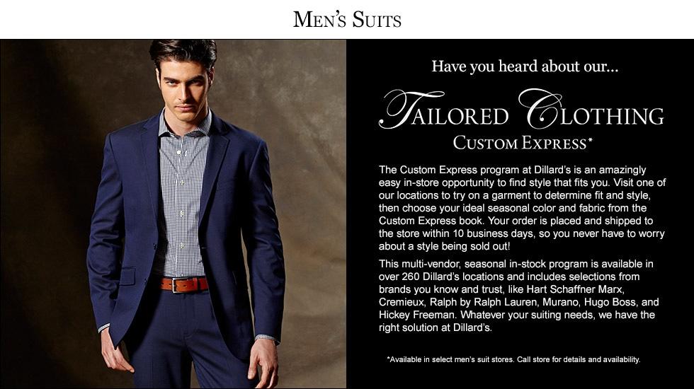 Men's Tailored Clothing Custom Express | Dillard's