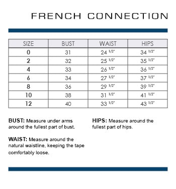 French connection size chart french connection basic shirts